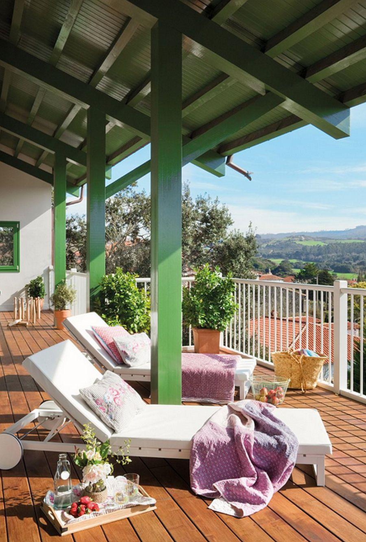 adelaparvu.com despre casa cu terase, casa cu tamplarie verde, casa Spania, Comillas, foto Elmueble (14)