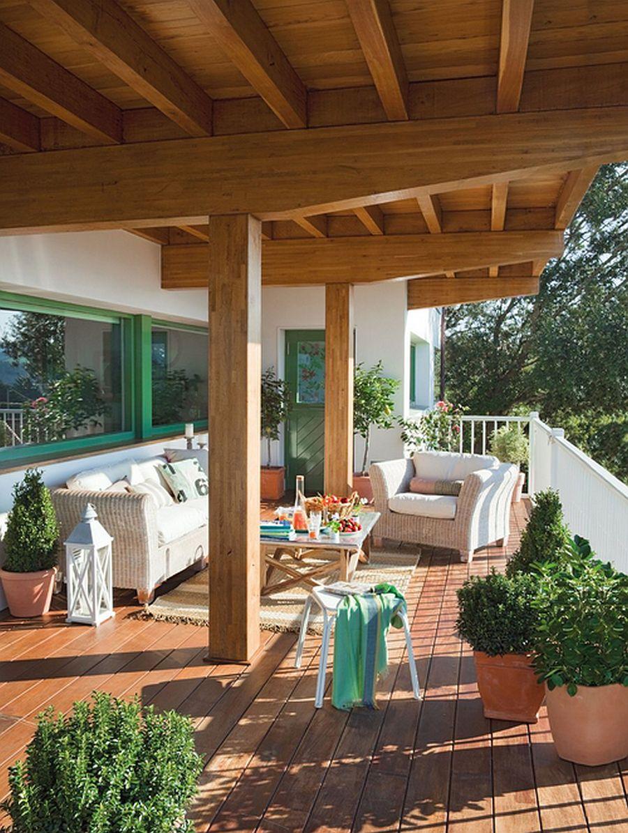 adelaparvu.com despre casa cu terase, casa cu tamplarie verde, casa Spania, Comillas, foto Elmueble (2)