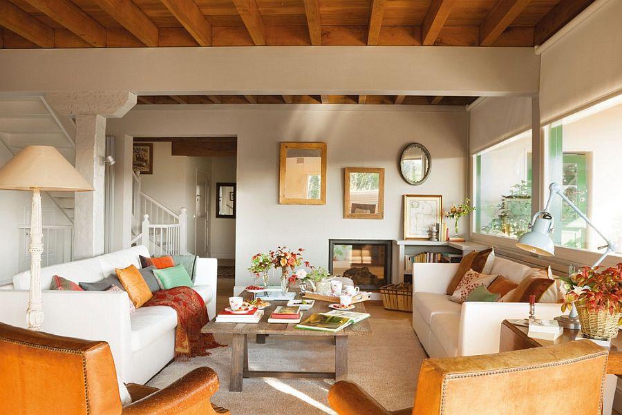 adelaparvu.com despre casa cu terase, casa cu tamplarie verde, casa Spania, Comillas, foto Elmueble (5)