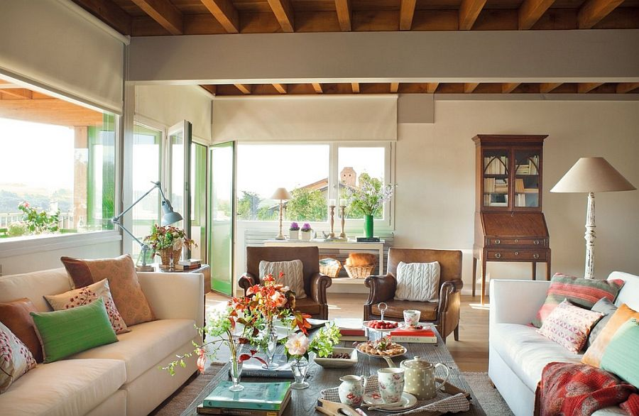 adelaparvu.com despre casa cu terase, casa cu tamplarie verde, casa Spania, Comillas, foto Elmueble (7)