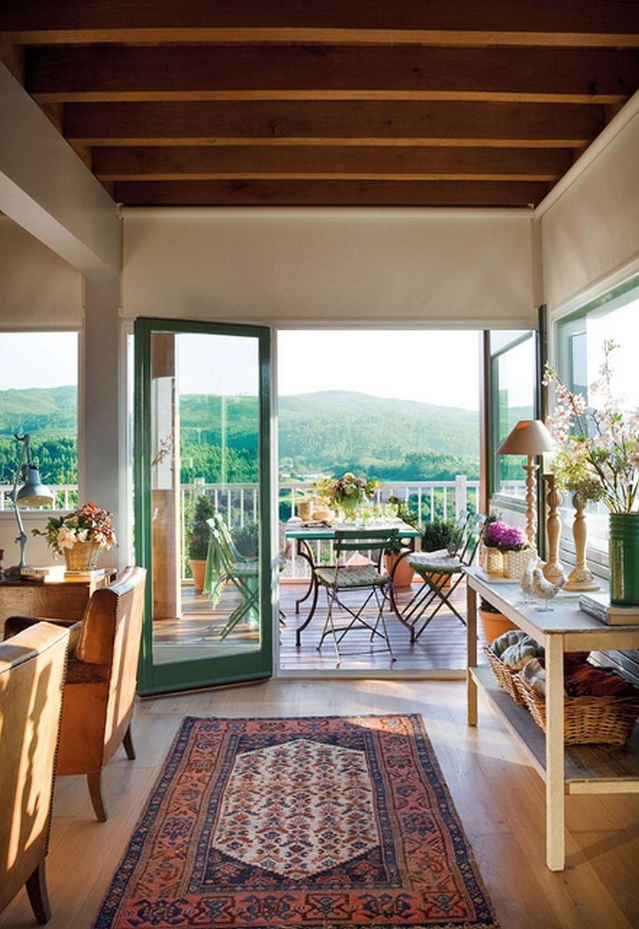 adelaparvu.com despre casa cu terase, casa cu tamplarie verde, casa Spania, Comillas, foto Elmueble (8)