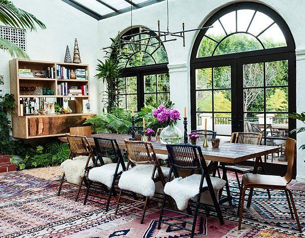 adelaparvu.com despre casa de tip hacienda, casa SUA, casa Katie Tarses, Foto One kings lane