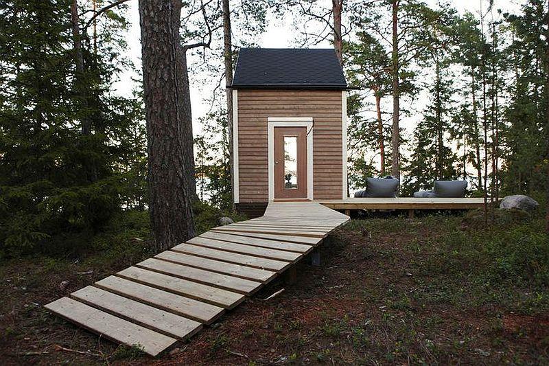 adelaparvu.com despre casa de vacanta mica din lemn, casa Nido, design Robin Falck (1)