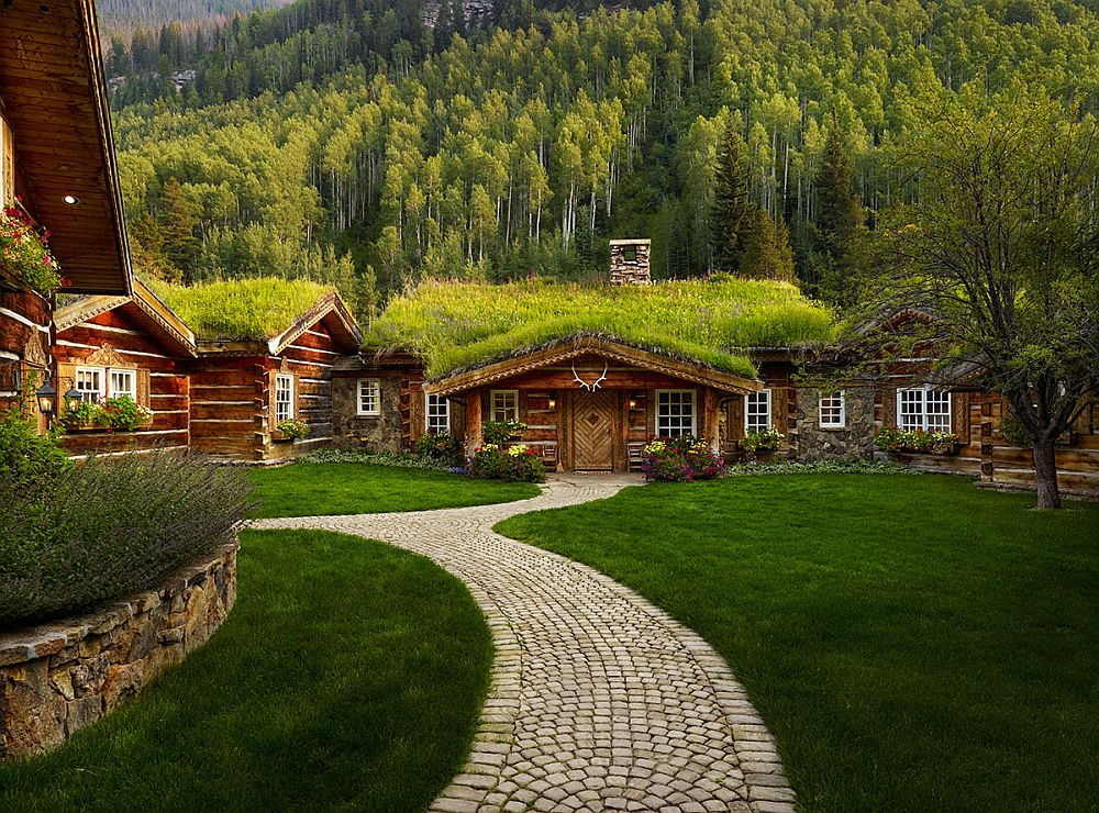 adelaparvu.com despre casa din lemn cu acoperis verde, Foto Vail Custom Builder (1)