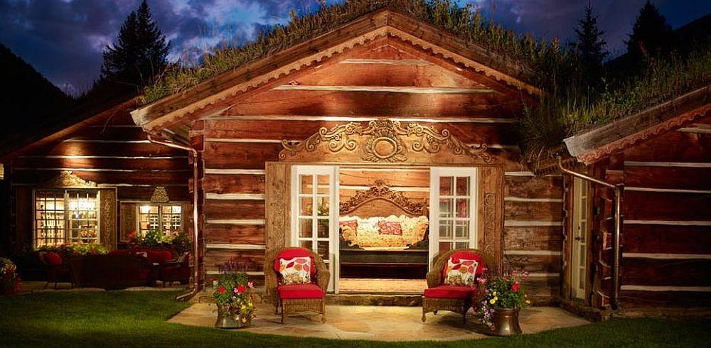 adelaparvu.com despre casa din lemn cu acoperis verde, Foto Vail Custom Builder (3)