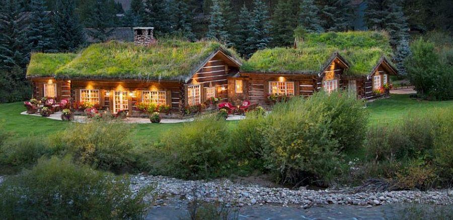 adelaparvu.com despre casa din lemn cu acoperis verde, Foto Vail Custom Builder (4)