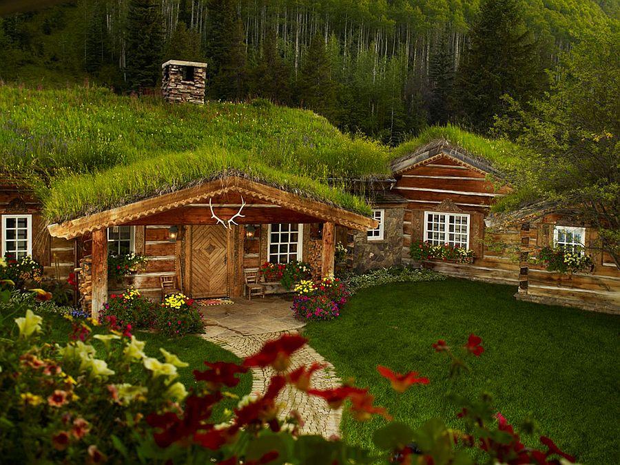 adelaparvu.com despre casa din lemn cu acoperis verde, Foto Vail Custom Builder (5)