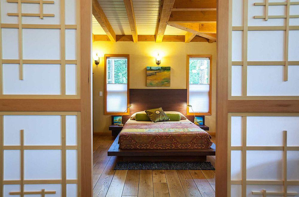 adelaparvu.com despre casa imica cu acoperis din plante, casa in stil japonez, design David Coulson (1)
