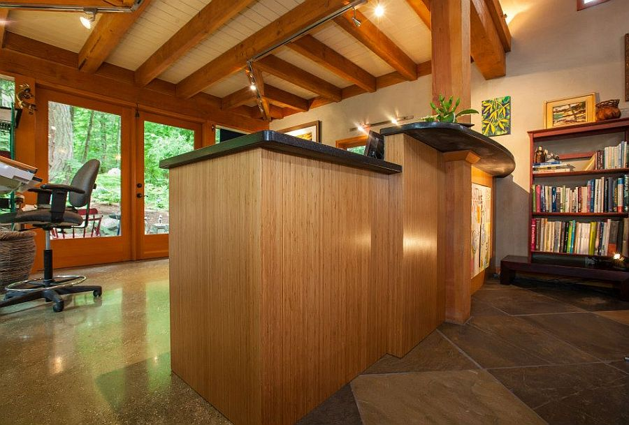 adelaparvu.com despre casa imica cu acoperis din plante, casa in stil japonez, design David Coulson (2)