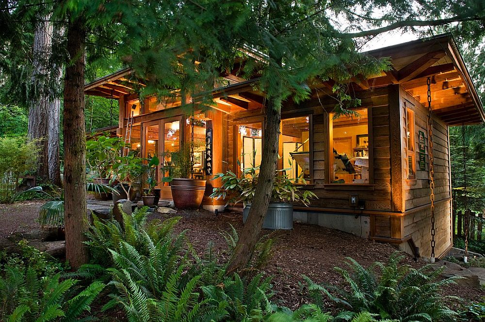 adelaparvu.com despre casa imica cu acoperis din plante, casa in stil japonez, design David Coulson (3)