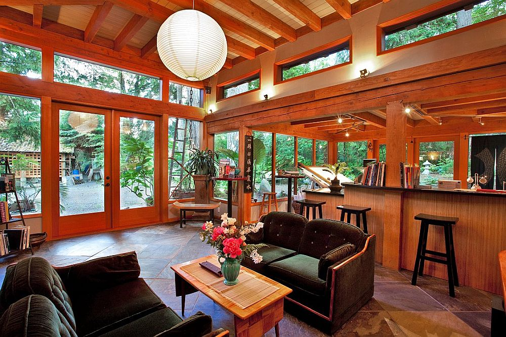 adelaparvu.com despre casa imica cu acoperis din plante, casa in stil japonez, design David Coulson (5)