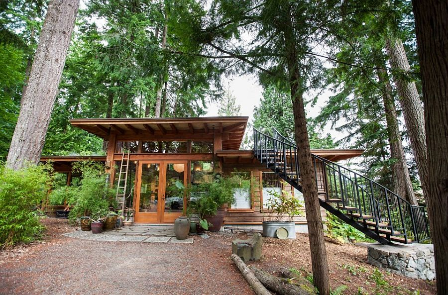 adelaparvu.com despre casa mica cu acoperis din plante, casa in stil japonez, design David Coulson, Foto Debra Brash (2)