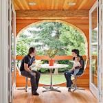 adelaparvu.com despre casa simpla transformata, casa cu acoperis arcuit, casa americana, casa SUA, arhitect Edgar Papazian, Foto Lincoln Barbour (1)