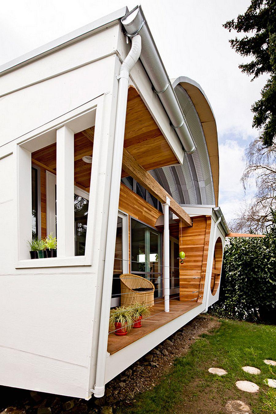 adelaparvu.com despre casa simpla transformata, casa cu acoperis arcuit, casa americana, casa SUA, arhitect Edgar Papazian, Foto Lincoln Barbour (14)