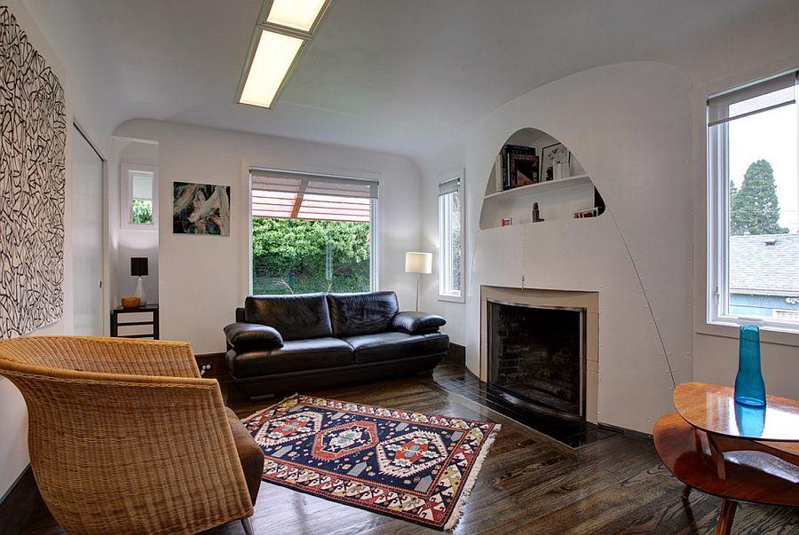 adelaparvu.com despre casa simpla transformata, casa cu acoperis arcuit, casa americana, casa SUA, arhitect Edgar Papazian, Foto Lincoln Barbour (8)