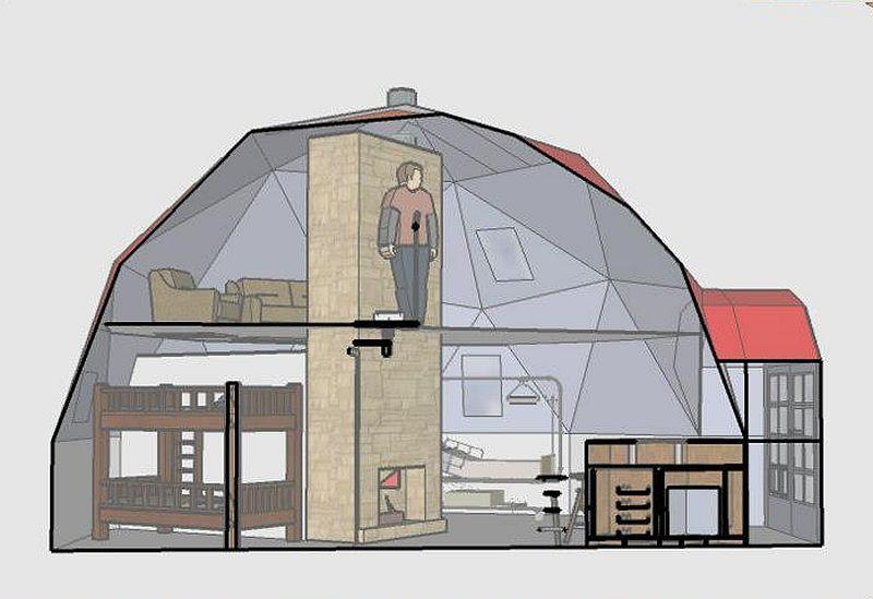 adelaparvu.com despre case tip dom, domuri geodezice Cora T Siegmeth  (1)