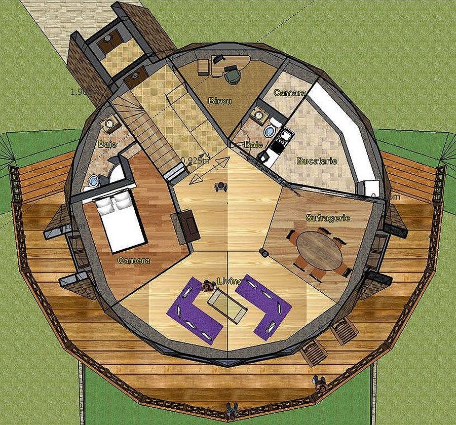 adelaparvu.com despre case tip dom, domuri geodezice Cora T Siegmeth (10)