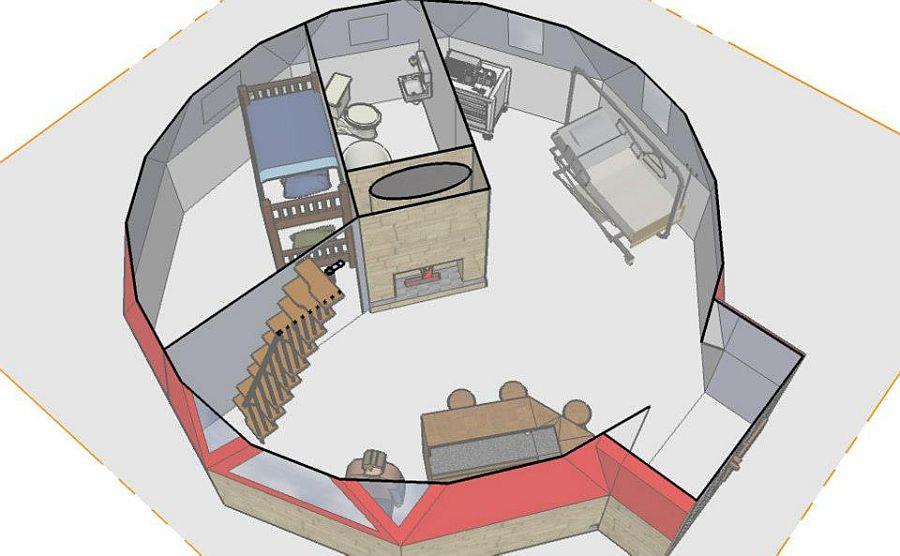 adelaparvu.com despre case tip dom, domuri geodezice Cora T Siegmeth  (2)