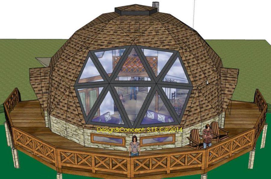 adelaparvu.com despre case tip dom, domuri geodezice Cora T Siegmeth (7)