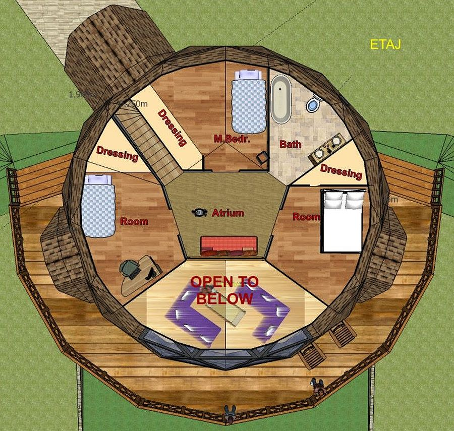 adelaparvu.com despre case tip dom, domuri geodezice Cora T Siegmeth (8)