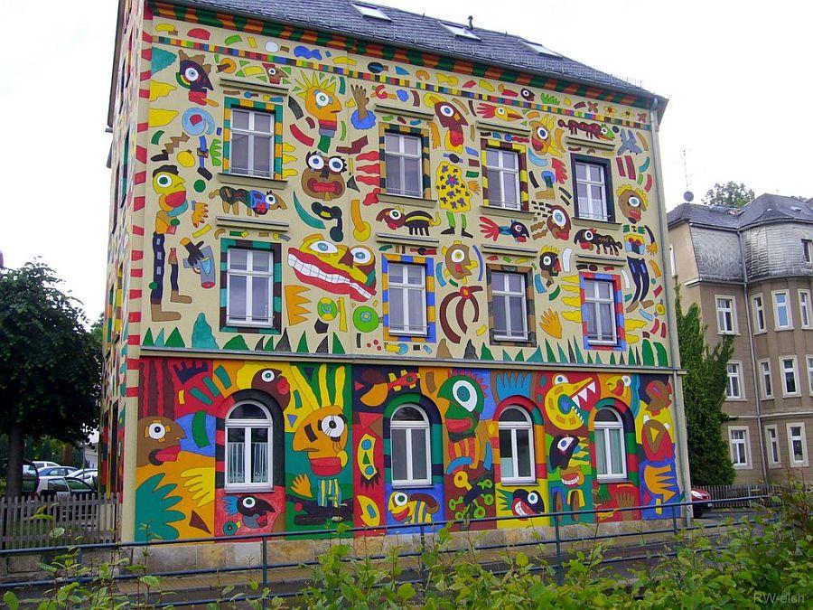 adelaparvu.com despre cladiri pictate, artist Michael Fischer Art (14)