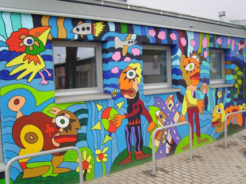 adelaparvu.com despre cladiri pictate, artist Michael Fischer Art (36)