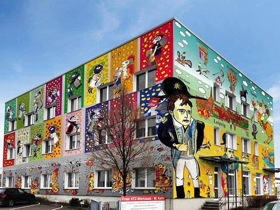 adelaparvu.com despre cladiri pictate, artist Michael Fischer Art (5)