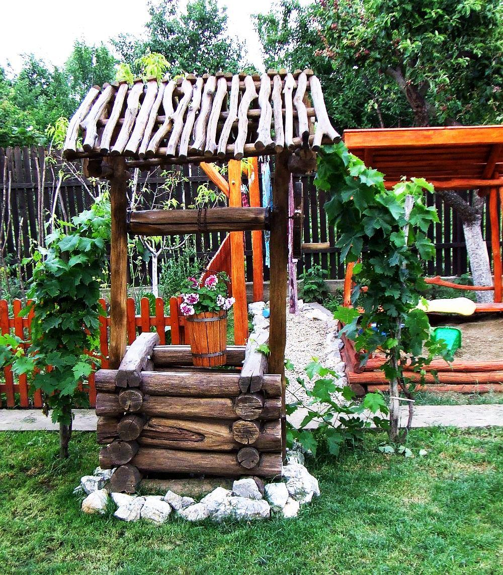 adelaparvu.com despre fantani decorative din lemn, masti pentru fantani, design Rustic Design, oradea (9)