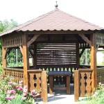 adelaparvu.com despre foisoare de gradina, foisoare din lemn, foisor hexagonal, firma Rustic Design, Romania (1)