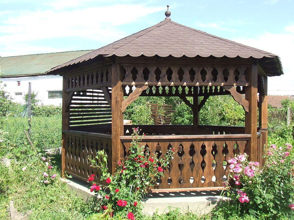 adelaparvu.com despre foisoare de gradina, foisoare din lemn, foisor hexagonal, firma Rustic Design, Romania (2)
