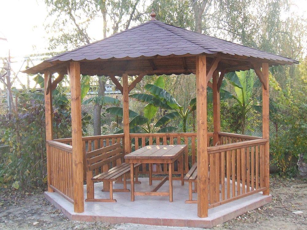 adelaparvu.com despre foisoare de gradina, foisoare din lemn, foisor hexagonal, firma Rustic Design, Romania (4)
