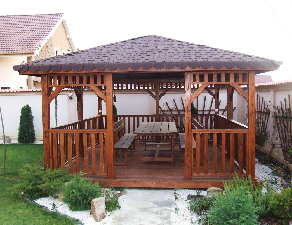 adelaparvu.com despre foisoare lemn, foisor dreptunghiular, firma Rustic Design, Romania (10)