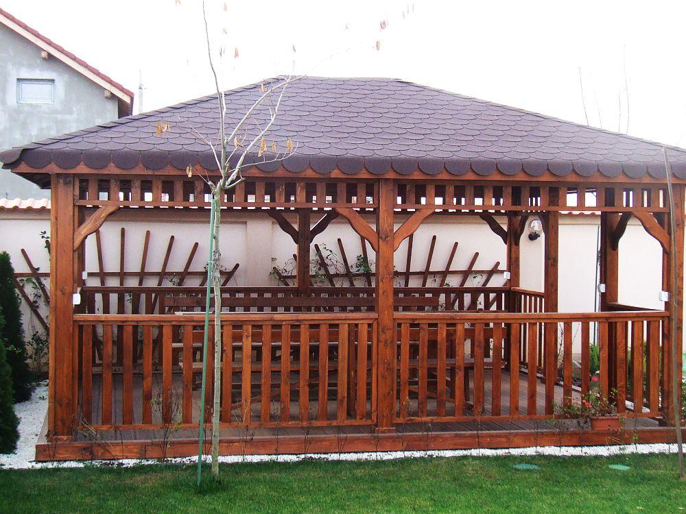 adelaparvu.com despre foisoare lemn, foisor dreptunghiular, firma Rustic Design, Romania (11)