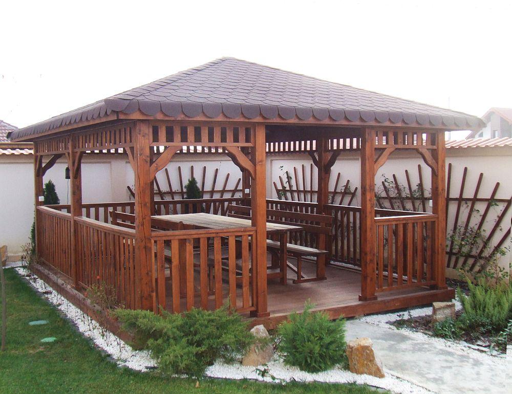 adelaparvu.com despre foisoare lemn, foisor dreptunghiular, firma Rustic Design, Romania (12)