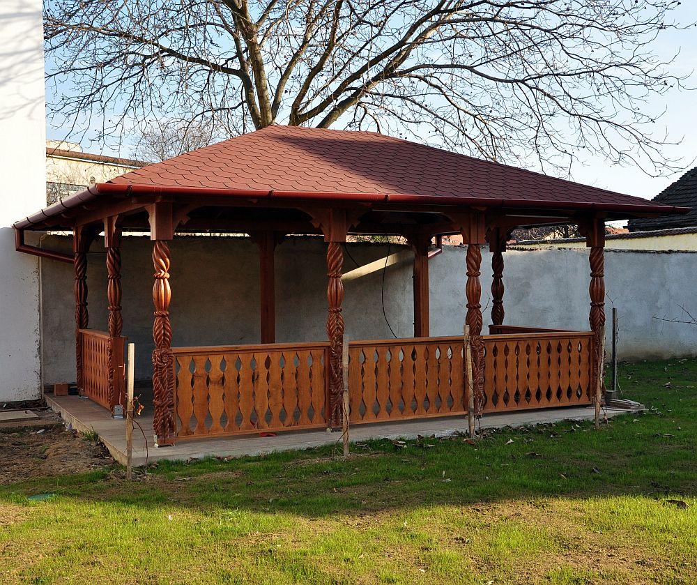 adelaparvu.com despre foisoare lemn, foisor dreptunghiular, firma Rustic Design, Romania (2)