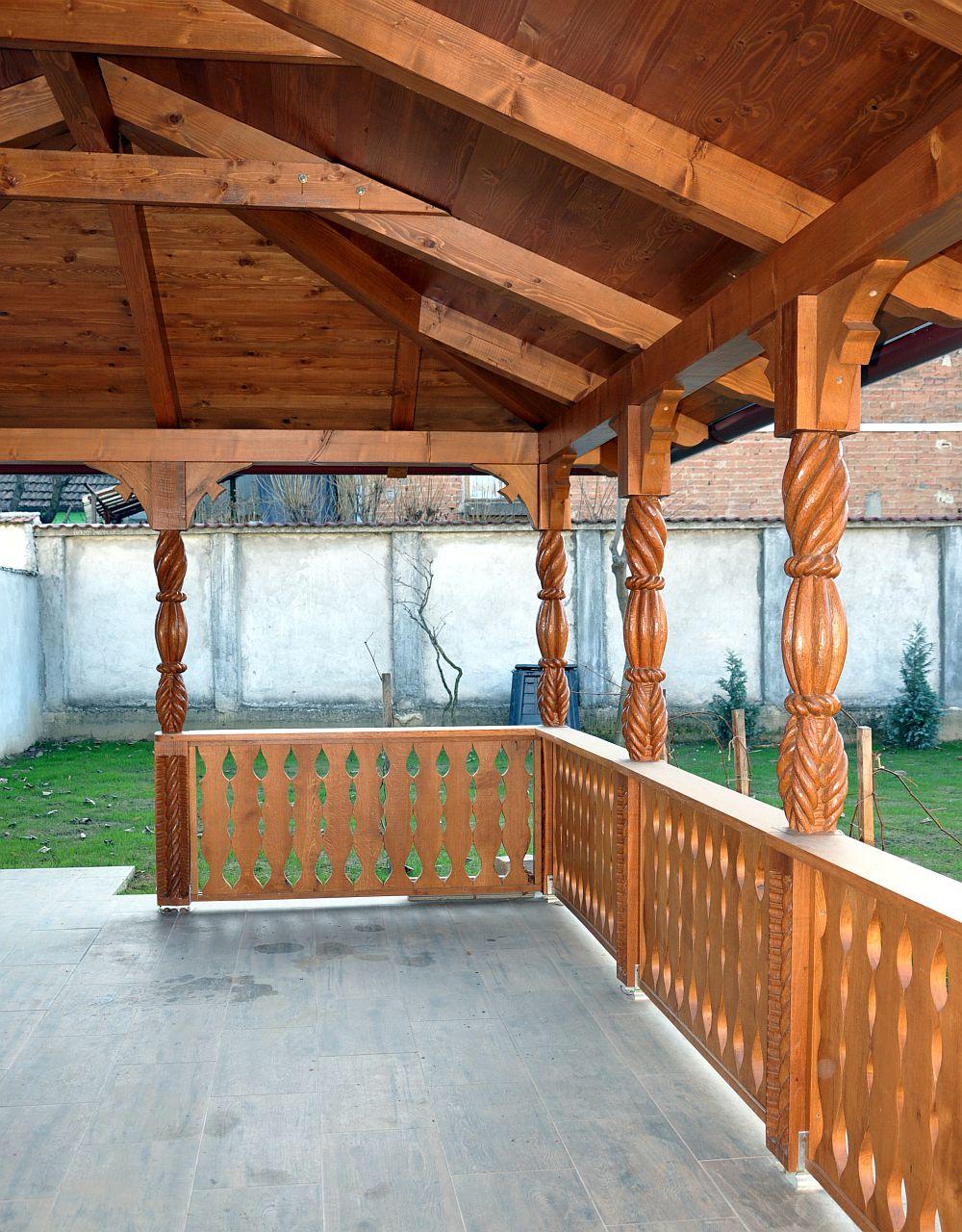 Foisoare amenajari casa si gradina design finisaje - Adelaparvu Com Despre Foisoare Lemn Foisor Dreptunghiular Firma Rustic Design Romania