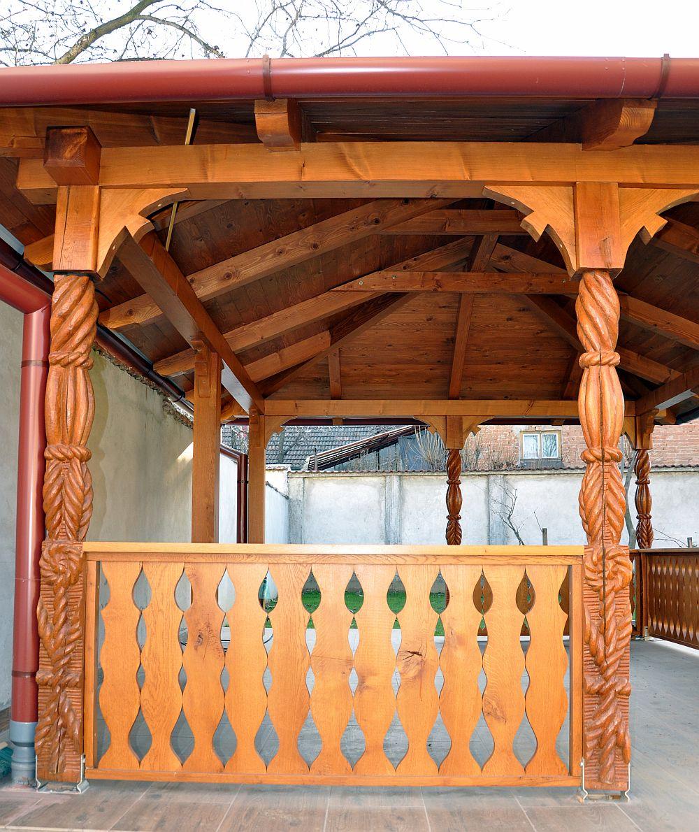 adelaparvu.com despre foisoare lemn, foisor dreptunghiular, firma Rustic Design, Romania (5)