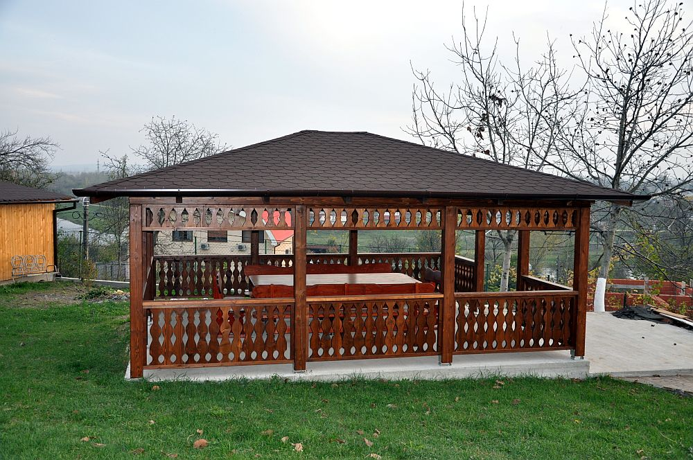 adelaparvu.com despre foisoare lemn, foisor dreptunghiular, firma Rustic Design, Romania (6)