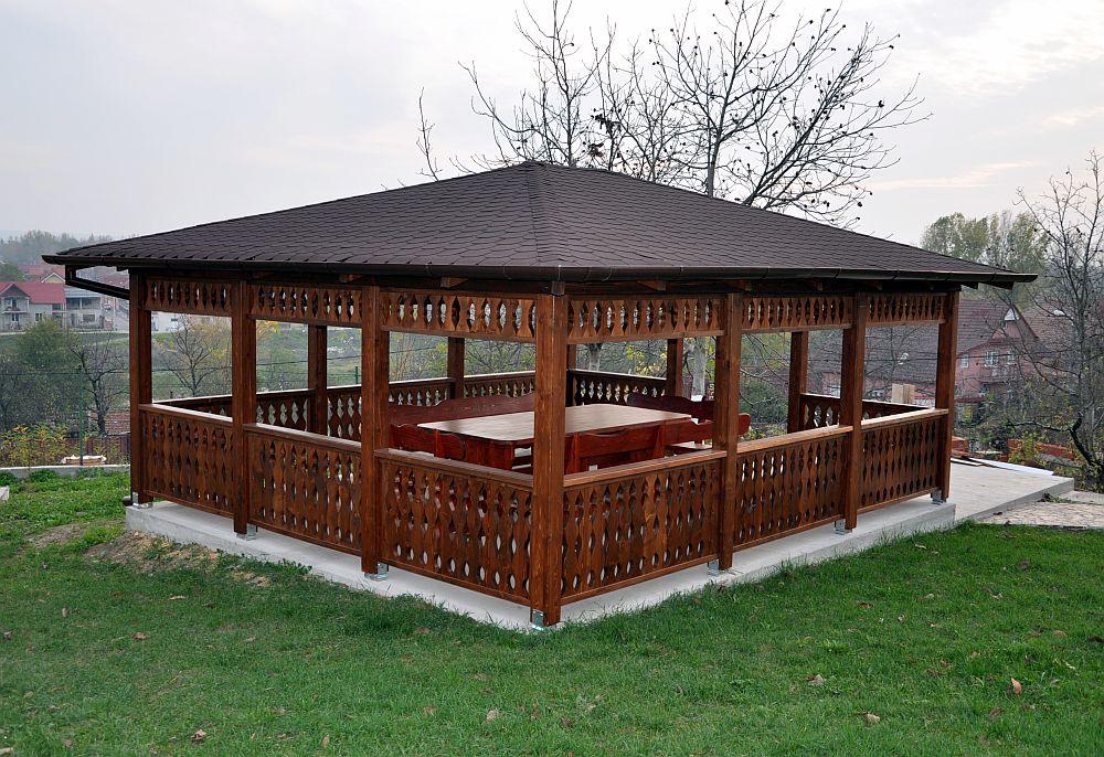 adelaparvu.com despre foisoare lemn, foisor dreptunghiular, firma Rustic Design, Romania (7)
