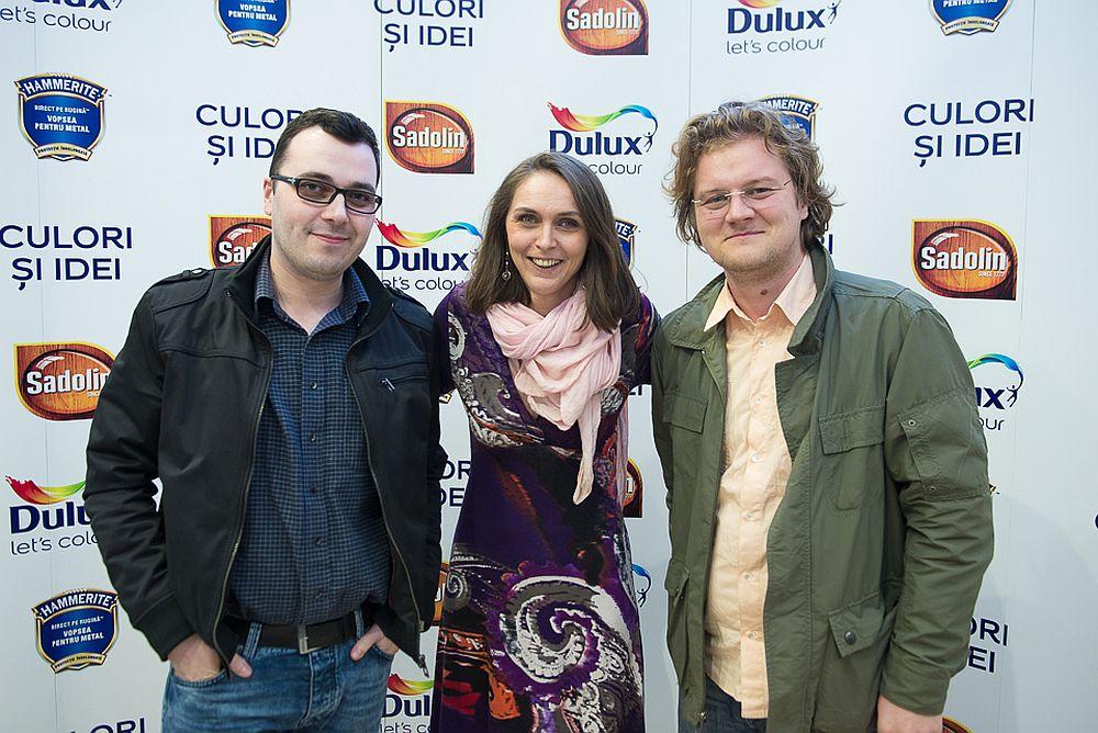 Între arhitecții de la One Design Alexandru Bălan și Paul Samsonescu (dreapta)