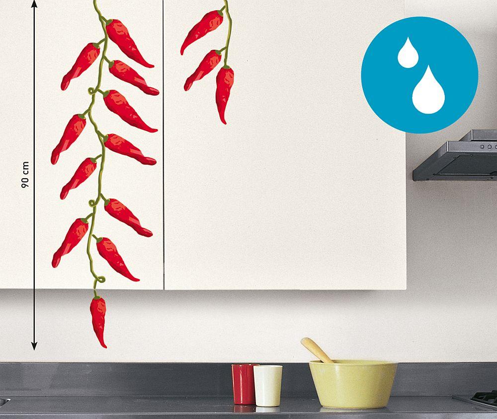 Sticker decorativ pentru bucatarie. Te poti juca cu el sa-l pui de pe mobila pe perete