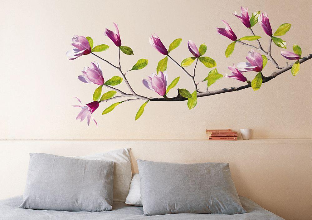 Sticker perete model cu magnolii pe deco-perete.ro