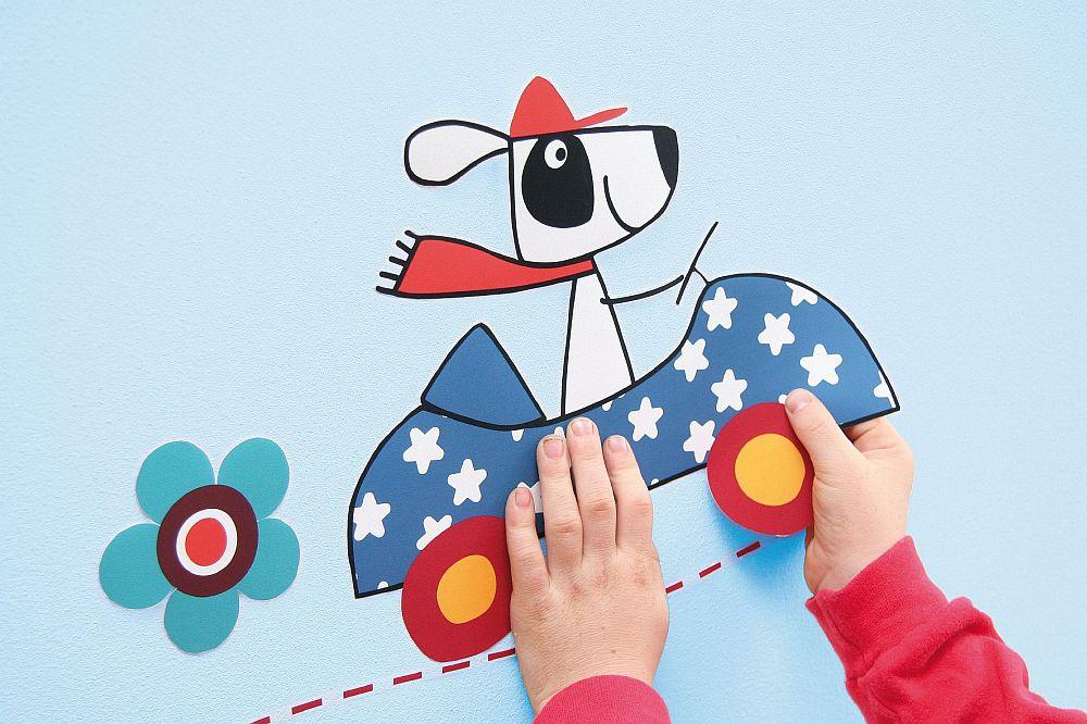 Sticker deorativ pe suport de hartie pentru camera copilului pe deco-perete.ro