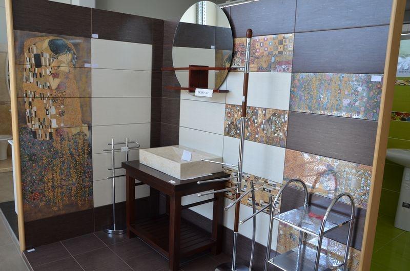 adelaparvu.com despre placi ceramice colectia Pasion Mural Ceramica Latina cu model Gustav Klimt (2)