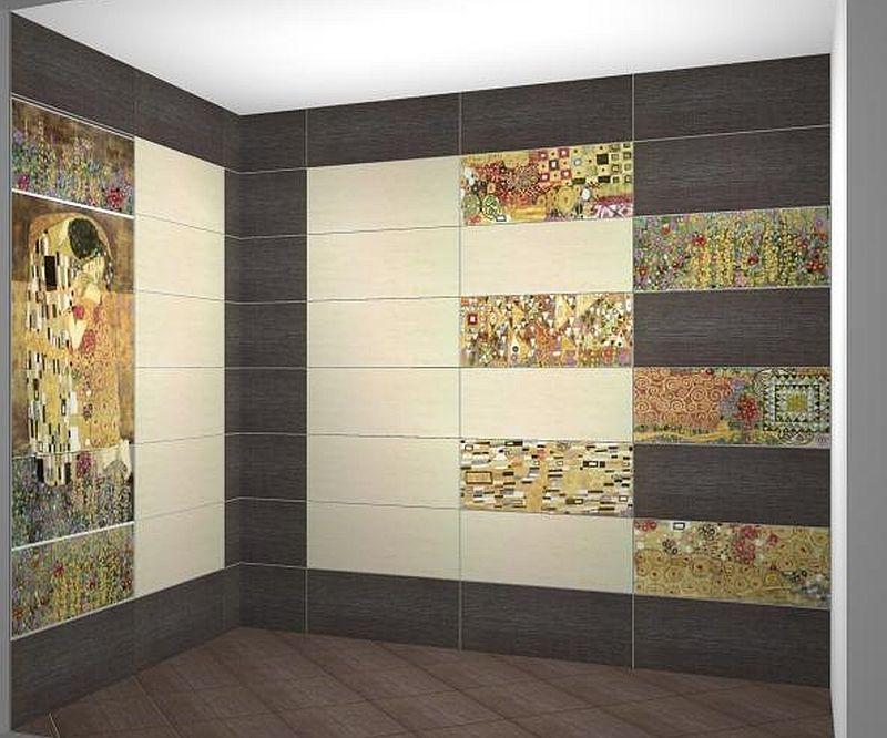 adelaparvu.com despre placi ceramice colectia Pasion Mural Ceramica Latina cu model Gustav Klimt (3)