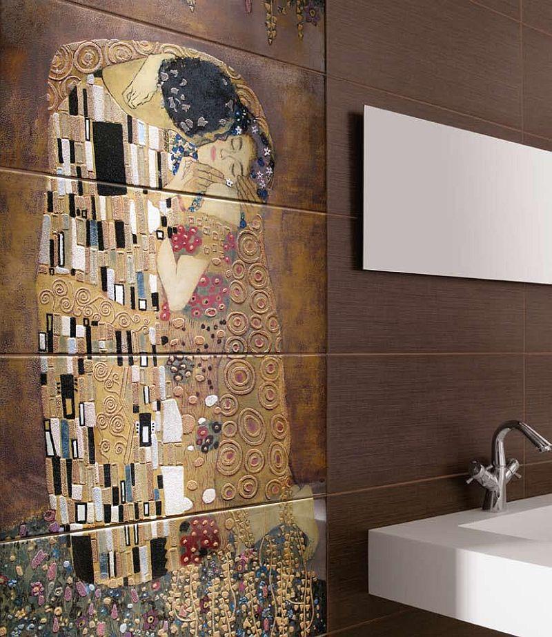 adelaparvu.com despre placi ceramice colectia Pasion Mural Ceramica Latina cu model Gustav Klimt (8)