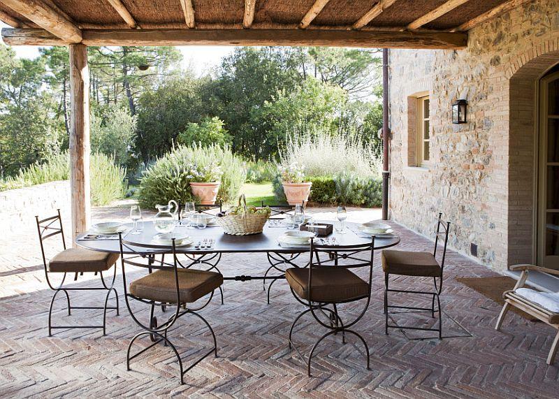 adelaparvu.com despre stilul toscan, casa in stil toscan, Villa Alba, Montalcino (9)