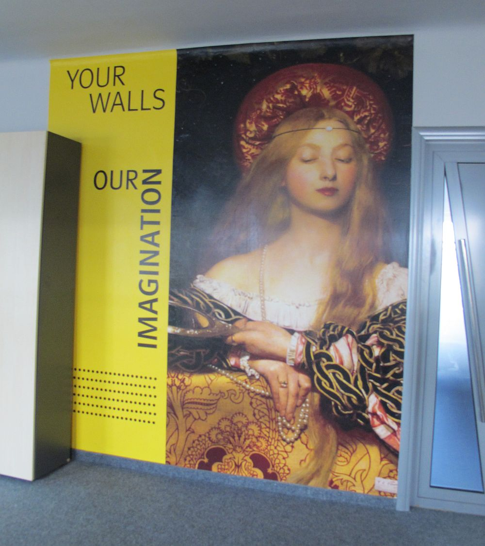 Imbracaminte pentru pereti sub forma de poster urias lipit