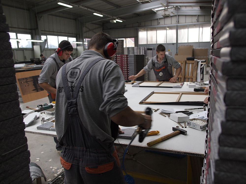 In atelierul de productie de la GAP Art