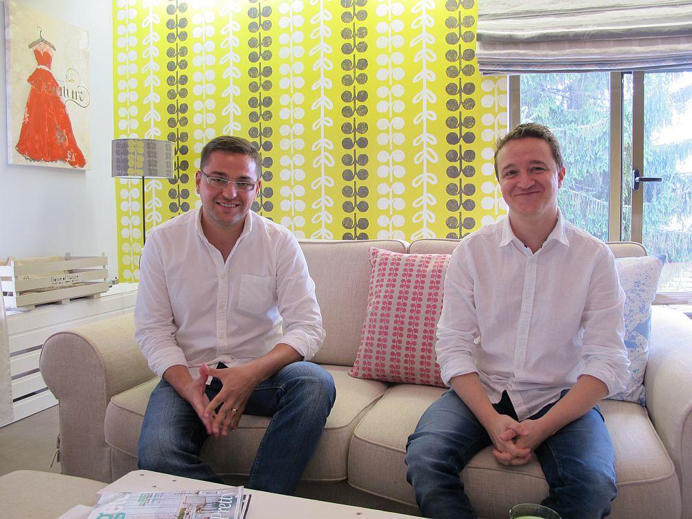 Victor Șerban și Ștefan Ormenișan (dreapta)